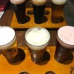 クラフトビールタップ グリル&キッチン - 3種飲み比べ