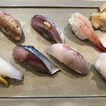Kanazawamaimonzushi - 地魚だらけで7貫盛り