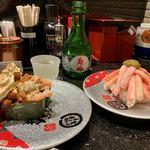金沢まいもん寿司 - 香箱がに 760円 かにがんこ盛り 760円