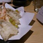鮨・椿油天ぷら  八木 - 天ぷらその1、とペアリング