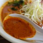 クリーミーTonkotsuラーメン 麺家神明 - スープ