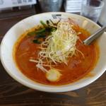 クリーミーTonkotsuラーメン 麺家神明 - REDクリーミー坦々麺、3辛増し(860円+40円)