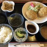 お食事処おぐら - 料理写真:手作りコロッケ定食