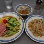 9819939 - 冷麺と半チャーハンのセット \850