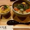 八兆屋 - 料理写真:「鴨団子と生麩のおそばとかにご飯の膳」990円