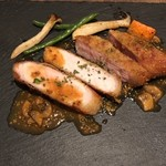 a La Bouteille - 豚肉のグリル。