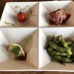 中華バルSAISAI。 - 前菜4種盛
