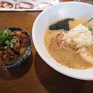喜元門 - 料理写真:鶏白湯(760円)とまかない丼(270円)