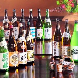 日本酒といえば新潟。各酒造から厳選された地酒をご用意
