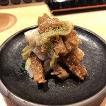酒と肴 SUIGEI - ジャコ天とにんにく風味のカツオしぐれ煮を合わせたもの