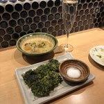 酒と肴 SUIGEI - スジ煮と青海苔天ぷら