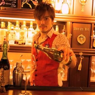 ソムリエが在中し、美味しいお酒と笑顔を提供!