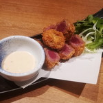 肉炉端 弁慶 - 牛ロースのレアカツフライ