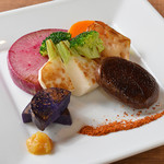 おすすめの新鮮野菜焼き 3種盛り