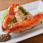大タラバ蟹の鉄板焼き