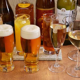 お得な2時間飲み放題がご接待や宴会に人気です!