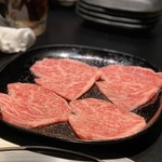 京松蘭 - ◆北海道産雌牛のロース 徳島県産柚子とすだちのポン酢