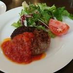 味工房夢魚 - ハンバーグ&トマトソース(ランチ)