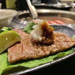 京松蘭 - イチボの辛味大根乗せ