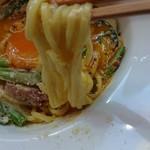つるのおんがえし  - 麺は細くてちょっと黄色い