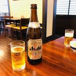 浜田屋 - まずは瓶ビールで乾杯!