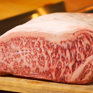 厳選された和牛ステーキの様々な部位をお楽しみ頂けます!