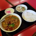 味珍 - 「本格台湾ラーメン定食 (680円)」