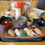寿司龍 - 料理写真:「冷やしつけ麺セット (980円)」