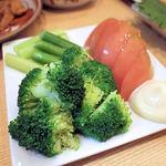 須賀乃湯 - ブロッコリー&トマト&アスパラ