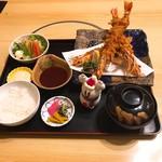 鶴べ別館 - 海老フライ定食(上)       ¥1500-   税別