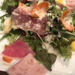 98222973 - イタリア産生ハムと彩り野菜のサラダ
