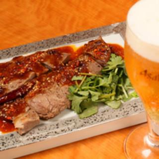 極上ラム肉の激辛四川風ステーキ