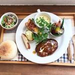 あおくまカフェ - 2018.12 あおくまプレート やっぱり白パン
