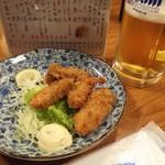 98241315 - カキフライ 500円   生ビール  300円