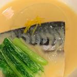千真野 - 鯖と大根の白味噌煮。