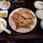 曲家餃子 - 餃子(10個)定食