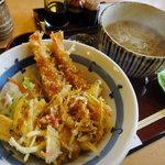 9825465 - 天然大車海老天丼蕎麦膳(2011.10追加)