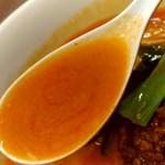 陳麻家 - 【2018.12.11(火)】担々麺(並盛・130g)750円のスープ