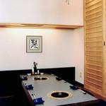 焼肉割烹 松阪 - 掘りごたつの座敷席(9〜12席)