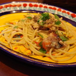 Cucina Siciliana Il Ficodindia - 焼きサンマとチェリートマト・ケイパーのスパゲティ
