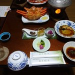 はまあかり潮音閣 - 料理写真:夕食ファーストセッティング