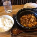 98261550 - 麻婆豆腐ハーフサイズ 530円(ランチはご飯サービス)