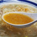 味の三平 - みそラーメン(辛味噌入りスープ)