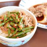 すき家 - ニンニクの芽牛丼ミニ