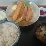 江戸家 - 料理写真:厚切りハムカツ定食800円