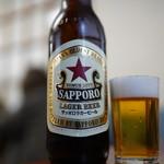 食事処 酒肴 水口 - 男は黙ってサッポロビール、赤星ステキ