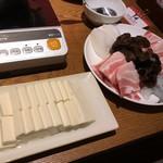 楽仙樓 - 火鍋の肉と魚介たちと豆腐