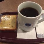エクセルシオール カフェ  - パウンドケーキリンゴ&クルミとドリップコーヒー