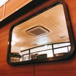 旧ヤム鐵道 - 車窓をイメージした鏡