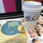 マクドナルド - ドリンク写真:ソーセージマフィンとコーヒーのコンビ200円